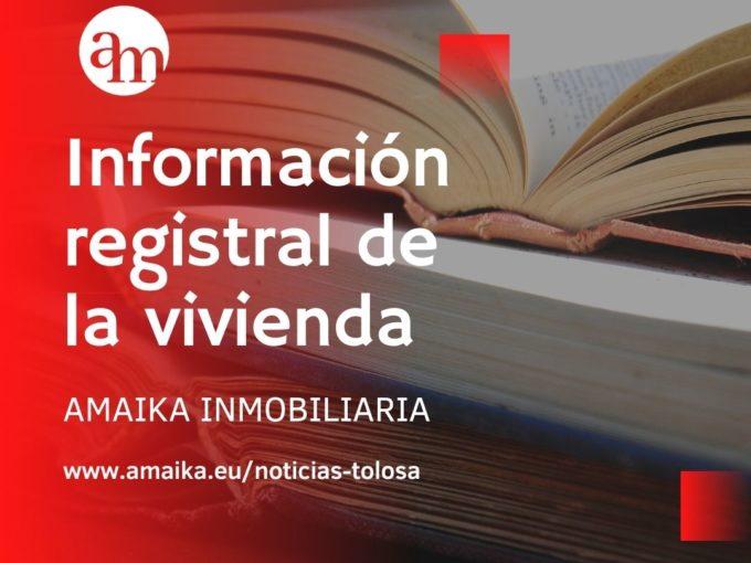 Información registral de la vivienda